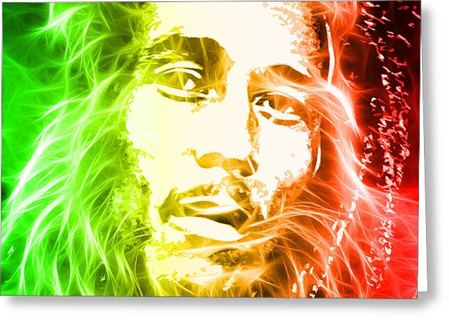 Bob Marley Abstract Greeting Cards - Bob Marley Greeting Card by The DigArtisT