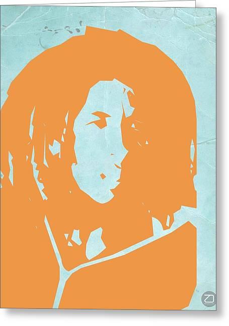Jamaican Greeting Cards - Bob Marley Yellow 2 Greeting Card by Naxart Studio
