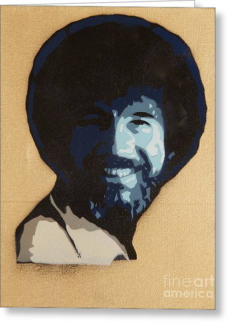 Bob Ross Greeting Card by Tom Evans