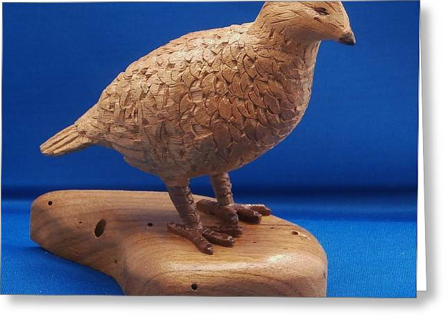 Game Bird Sculptures Greeting Cards - Bob White Quail Greeting Card by Russell Ellingsworth