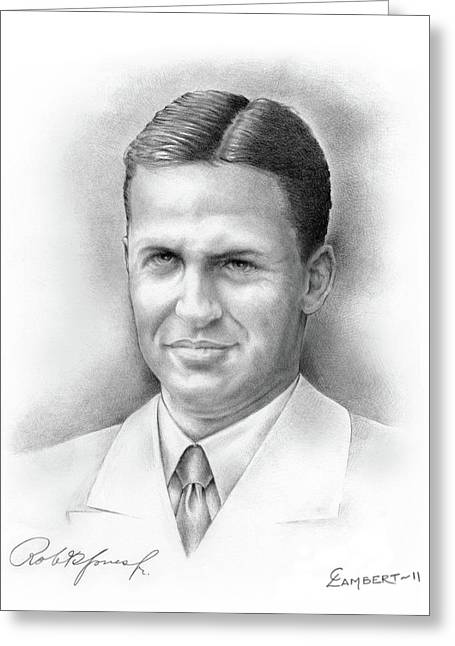 Us Open Golf Drawings Greeting Cards - Bobby Jones Greeting Card by Cliff Lambert