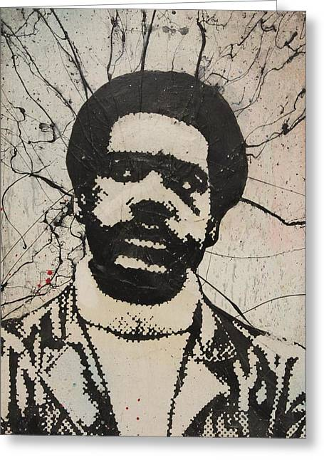 Grafitti Mixed Media Greeting Cards - Bobby Seale - Black Panther Greeting Card by Dustin Spagnola