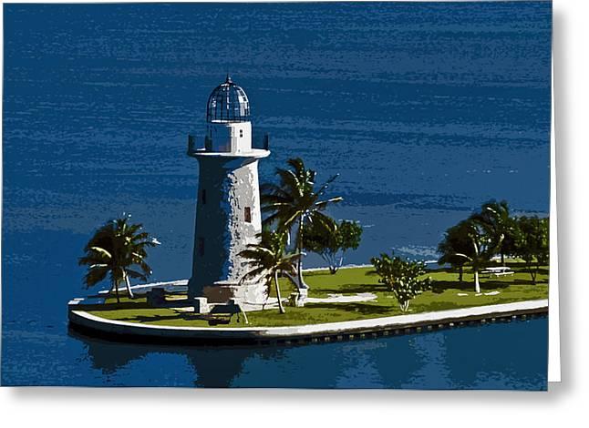 Boca Chita By Moonlight Greeting Card by Patrick M Lynch