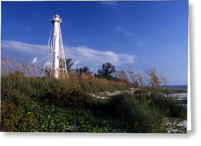 Senic View Greeting Cards - Boca Grande Light Greeting Card by Skip Willits