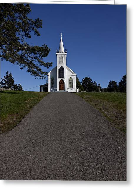 Rural Church Greeting Cards - Bodega Church Greeting Card by Garry Gay