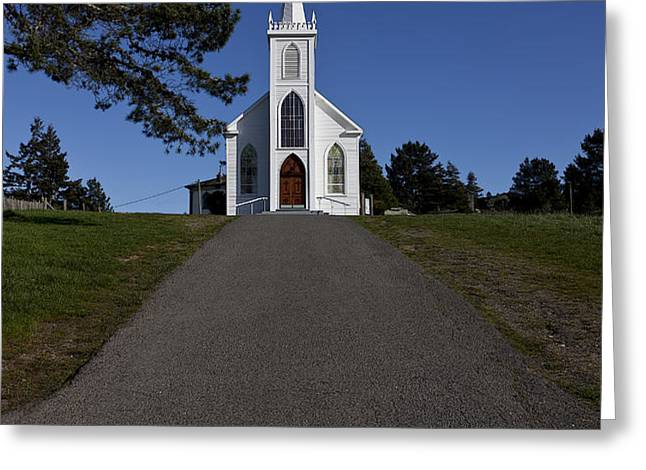 Bodega Church Greeting Card by Garry Gay
