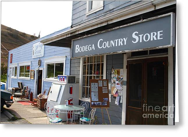 Bodega Country Store . Bodega Bay . Town of Bodega . California . 7D12452 Greeting Card by Wingsdomain Art and Photography