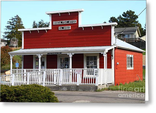 Horror Movies Photographs Greeting Cards - Bodega Post Office . Bodega Bay . Town of Bodega . California . 7D12455 Greeting Card by Wingsdomain Art and Photography