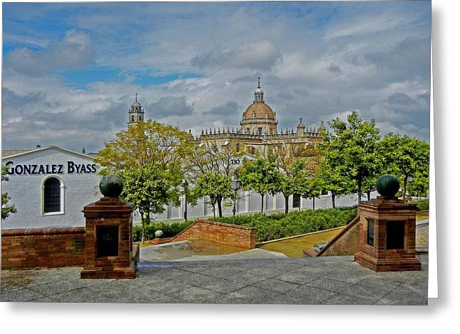 Attraktion Greeting Cards - Bodegas Gonzalez Byass - Tio Pepe Greeting Card by Juergen Weiss