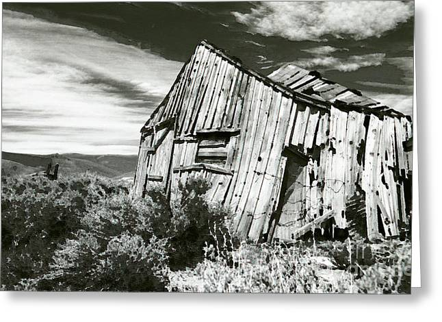 Western Photographs Greeting Cards - Bodie Barn Greeting Card by Norman  Andrus