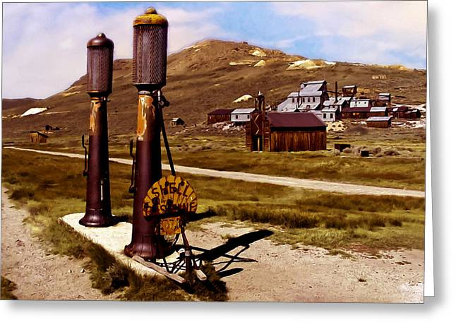 Wooden Building Greeting Cards - Bodie CA Ghost Town Greeting Card by  Bob and Nadine Johnston