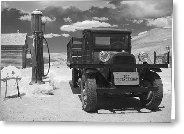 Antique Truck Greeting Cards - Bodie California - A Trip Back In Time Greeting Card by Christine Till