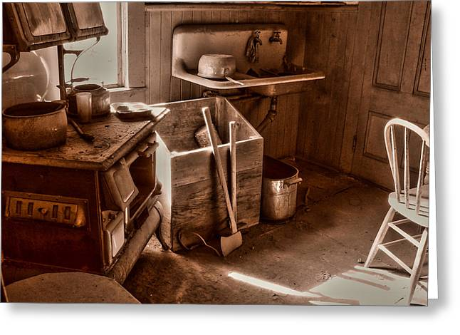 Bodie Greeting Cards - Bodie California Ghost Town Kitchen Greeting Card by Scott McGuire
