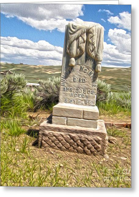 Gregory Dyer Greeting Cards - Bodie Ghost Town - Boot Hill 01 Greeting Card by Gregory Dyer