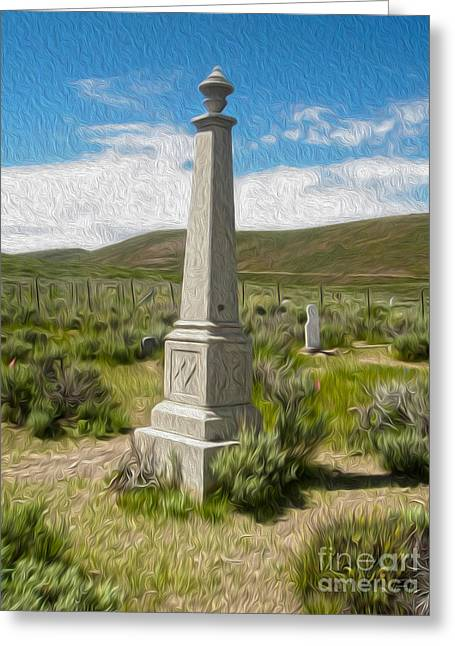 Gregory Dyer Greeting Cards - Bodie Ghost Town - Boot Hill 02 Greeting Card by Gregory Dyer