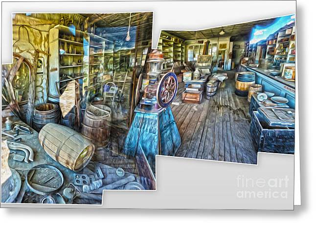 Gregory Dyer Greeting Cards - Bodie Ghost Town - General Store Greeting Card by Gregory Dyer