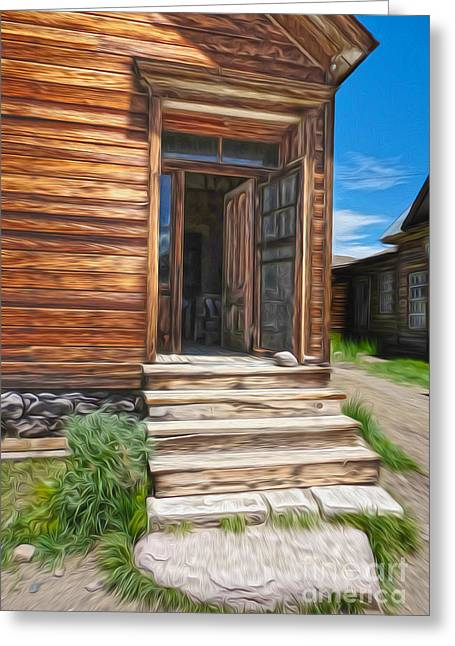 Gregory Dyer Greeting Cards - Bodie Ghost Town - Old House 01 Greeting Card by Gregory Dyer