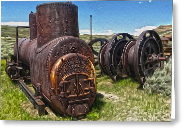 Gregory Dyer Greeting Cards - Bodie Ghost Town - Old Mining Equipment 03 Greeting Card by Gregory Dyer