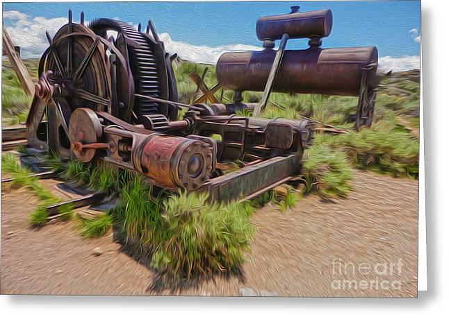 Gregory Dyer Greeting Cards - Bodie Ghost Town - Old Mining Equipment 04 Greeting Card by Gregory Dyer