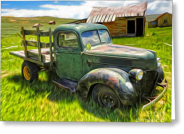 Gregory Dyer Greeting Cards - Bodie Ghost Town - Old Truck 01 Greeting Card by Gregory Dyer