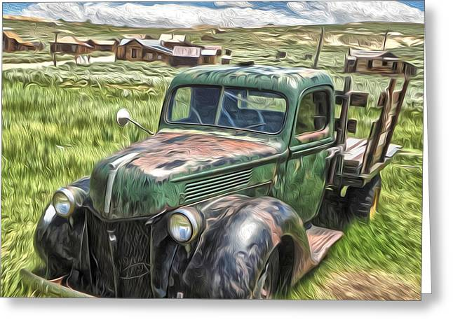 Gregory Dyer Greeting Cards - Bodie Ghost Town - Old Truck 02 Greeting Card by Gregory Dyer
