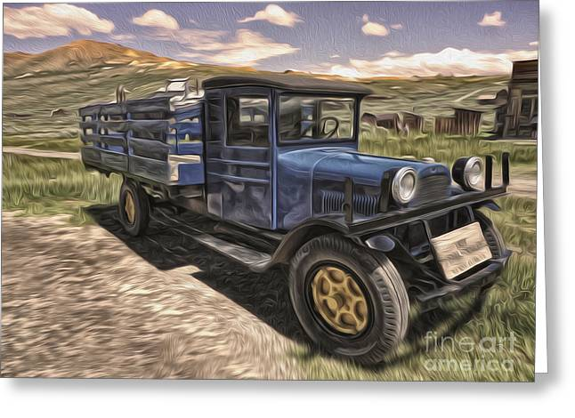 Gregory Dyer Greeting Cards - Bodie Ghost Town - Old Truck 03 Greeting Card by Gregory Dyer