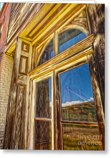 Gregory Dyer Greeting Cards - Bodie Ghost Town - Window Greeting Card by Gregory Dyer