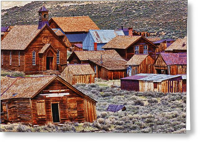 Wooden Structures Greeting Cards - Bodie Ghost Town California Greeting Card by Garry Gay
