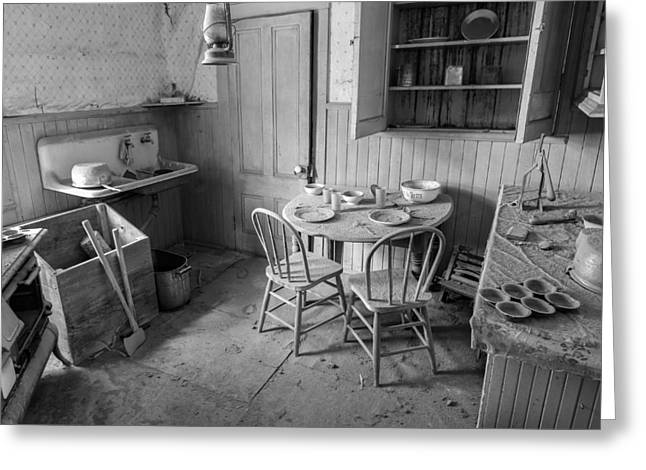 Bodie Greeting Cards - Bodie Ghost Town Kitchen Greeting Card by Scott McGuire