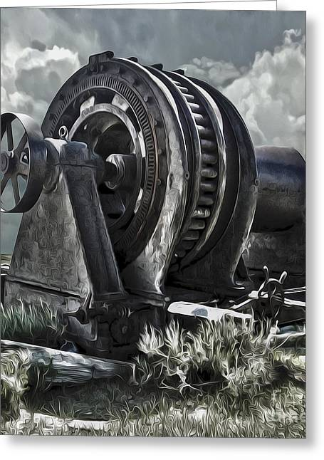 Gregory Dyer Greeting Cards - Bodie Ghost Town- Old Mining Equipment 01 Greeting Card by Gregory Dyer