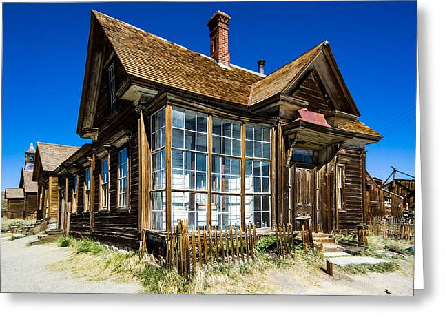 Up201209 Greeting Cards - Bodie Ghost Town One Greeting Card by Josh Whalen