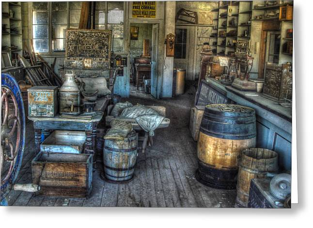 Bodie Greeting Cards - Bodie State Historic Park California General Store Greeting Card by Scott McGuire