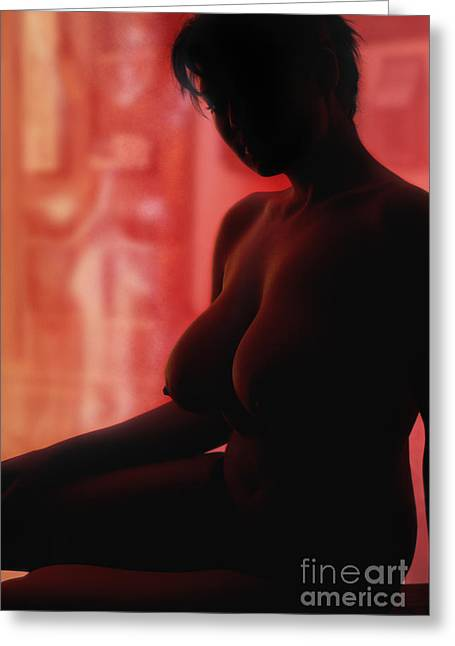 Large Breasts Greeting Cards - Bodies in Light Greeting Card by Exposed Arts