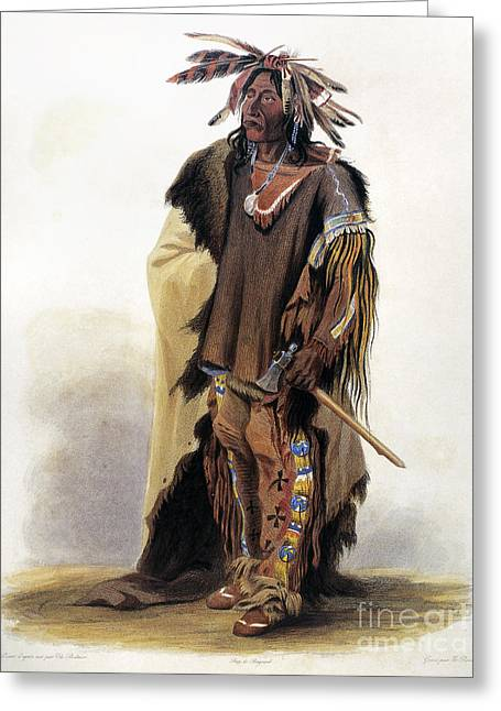 Bodmer: Sioux Chief Greeting Card by Granger