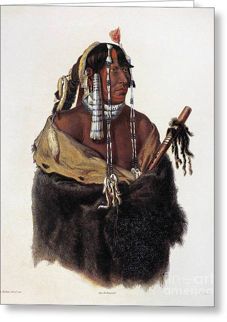 1833 Greeting Cards - Bodmer: Young Mandan Greeting Card by Granger