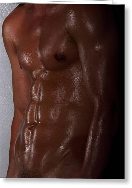 Nude Photo Greeting Cards - Body Art Greeting Card by Mark Ashkenazi