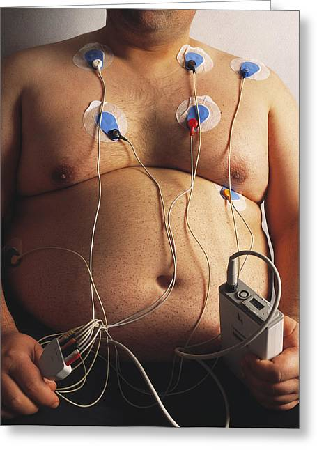 Electric Current Greeting Cards - Body Fat Measurement Greeting Card by Mauro Fermariello