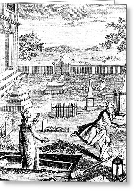 Snatch Greeting Cards - Body Snatching, 1746 Greeting Card by Science Source