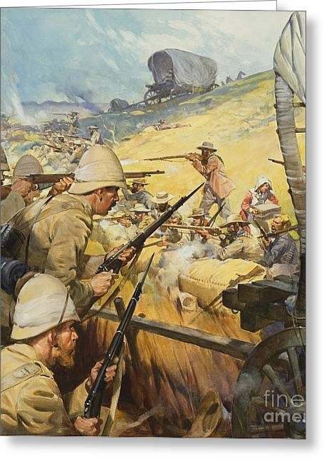 British Empire Greeting Cards - Boer War Skirmish Greeting Card by James Edwin McConnell