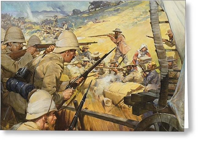 Boer War Skirmish Greeting Card by James Edwin McConnell