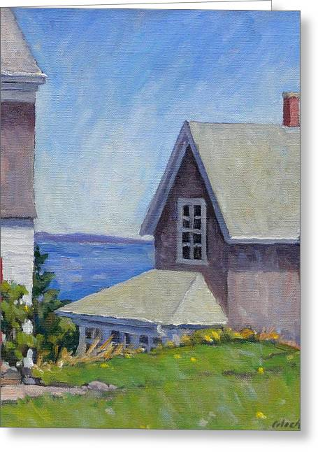 Old Maine Houses Greeting Cards - Bogdanov House Monhegan Greeting Card by Thor Wickstrom