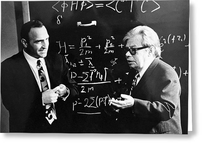 Student Union Greeting Cards - Bogolyubov (right), Soviet Physicist Greeting Card by Ria Novosti