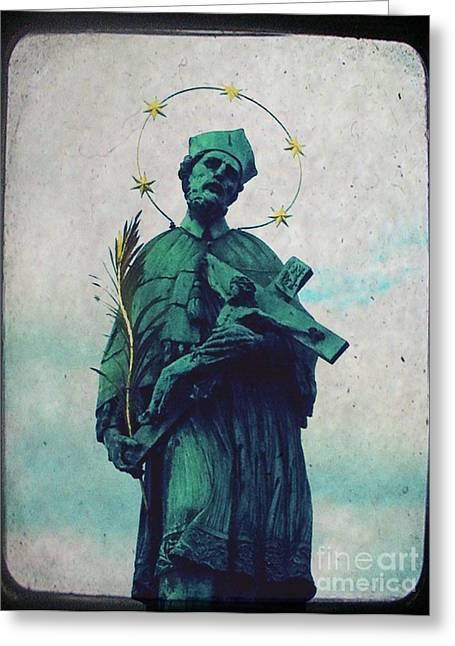 Bohemia Greeting Cards - Bohemian Saint Greeting Card by Linda Woods