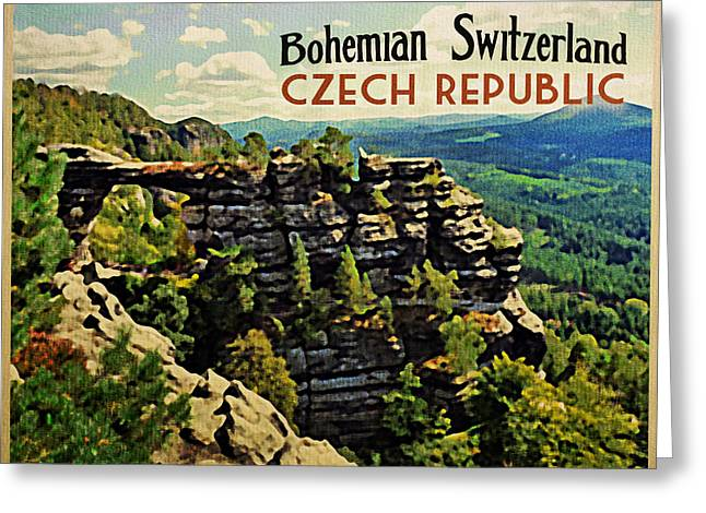 Bohemian Switzerland Czech Republic Greeting Card by Flo Karp