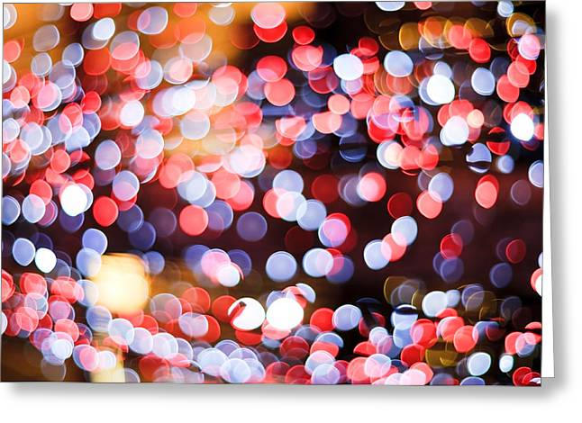 Blurs Greeting Cards - Bokeh Greeting Card by Setsiri Silapasuwanchai