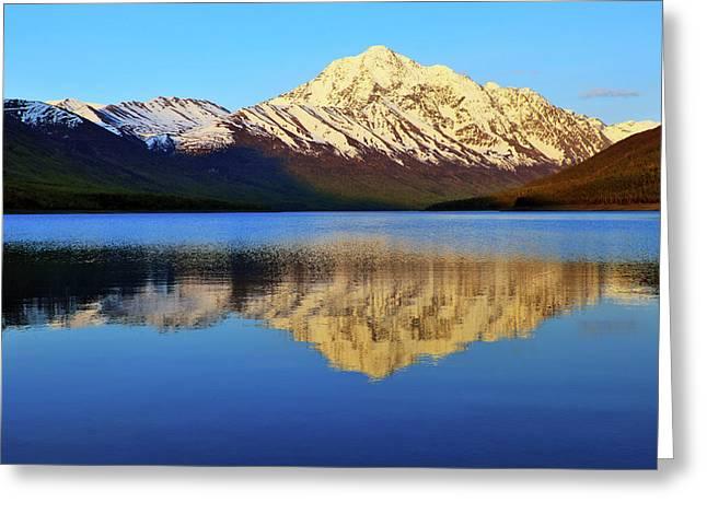 Alaska Lake Greeting Cards - Bold Peak Greeting Card by Rick Berk