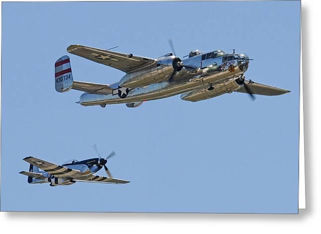 Bomber Escort Greeting Card by Jeff Stallard