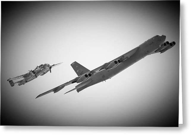 B-52 Greeting Cards - Bomber Pair Greeting Card by Bob Mintie