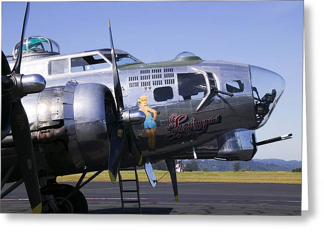 Sonoma Greeting Cards - Bomber Sentimental Journey Greeting Card by Garry Gay
