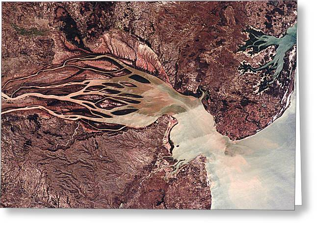 Bombetoka Bay, Madagascar Greeting Card by Nasa